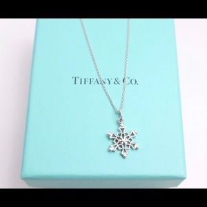 Tiffany and Co. Sterling Silver Snowflake Necklace